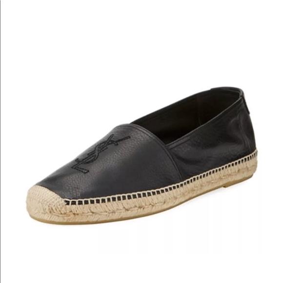 2c42f01ff6e Yves Saint Laurent Shoes | Sold Ysl Black Espadrilles 39 Saint ...